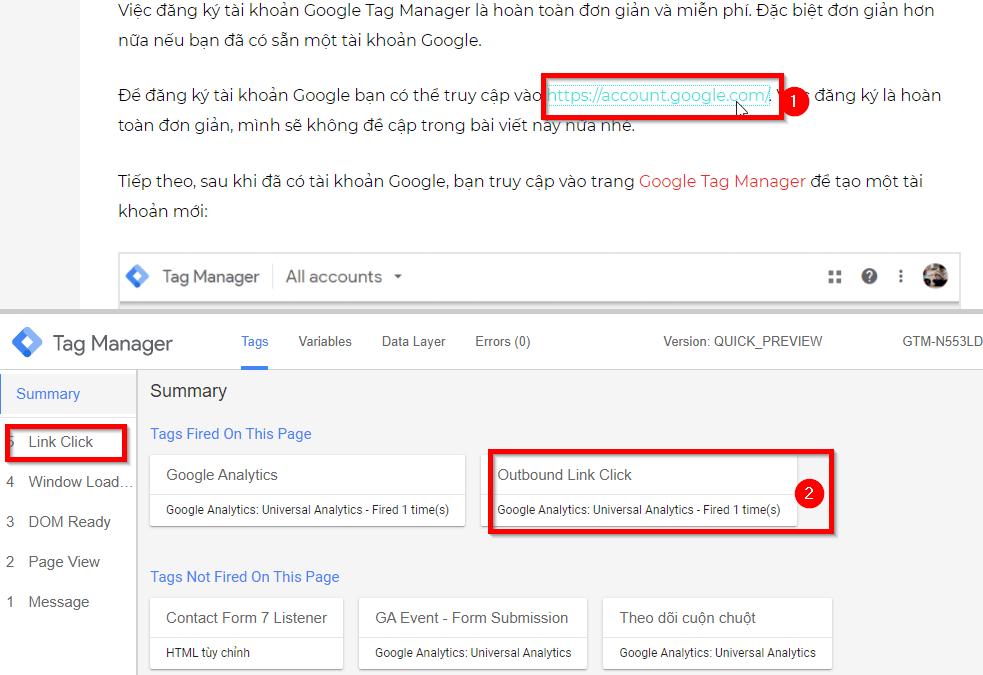 Theo dõi sự kiện nhấp chuột vào liên kết ngoài - Outbound Link Click Tracking bằng Google Tag Manager