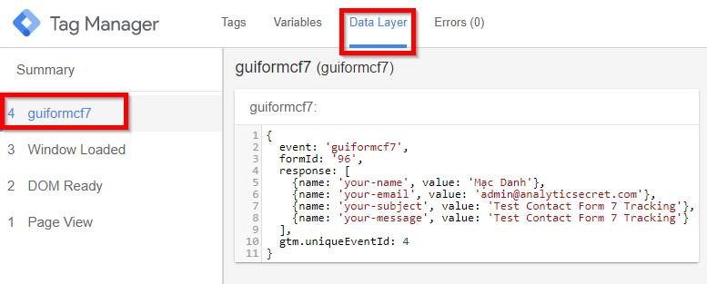 Truyền biến sang Data Layer trong GTM
