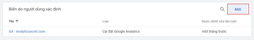 Biến do người dùng xác định trong Google Tag Manager