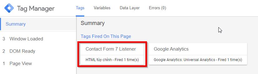 Tracking Sự kiện gửi Form bằng Contact Form 7