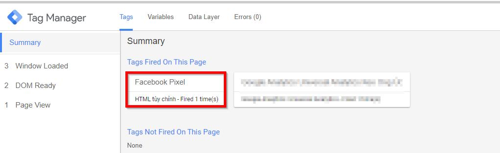 Cài đặt mã Pixel Facebook bằng Google Tag Manager