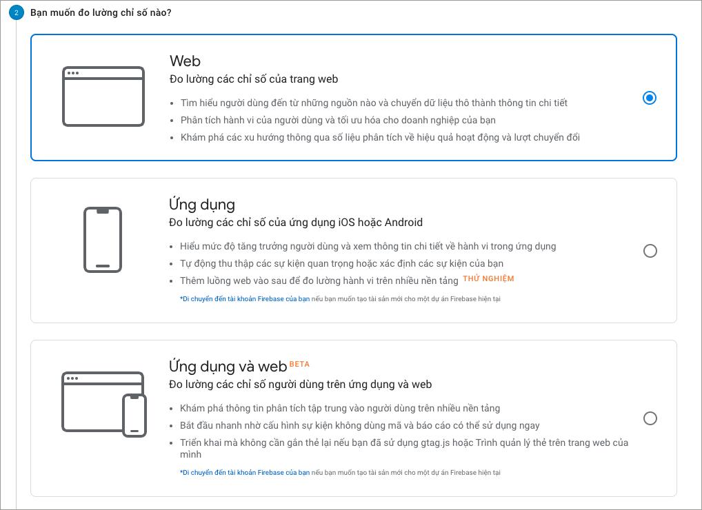 Hướng dẫn cài đặt google analytics ứng dụng và website
