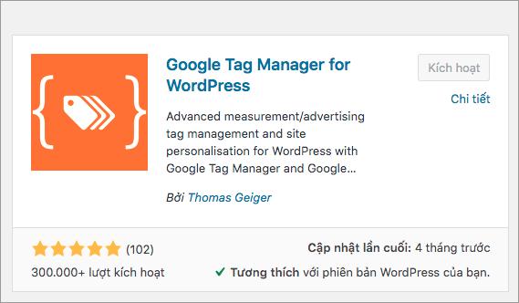 Hướng dẫn cài Google Tag Manager for WordPress