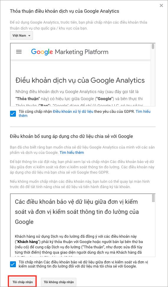 Hướng dẫn sử dụng Google Analytics. Những điều khoản của Google Analytics.